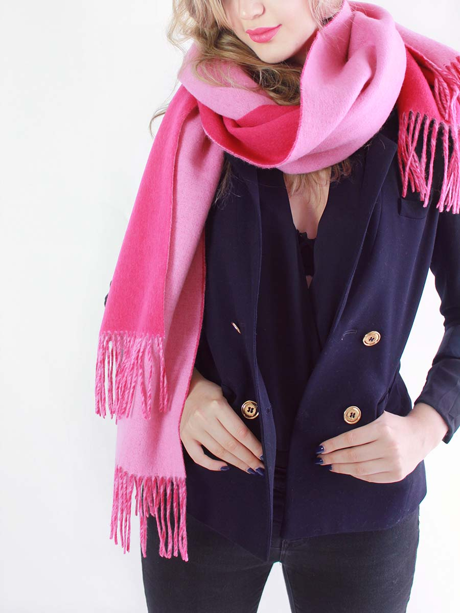 The Cozylab Oversized Cashmere Blended Scarf - Pink Glo