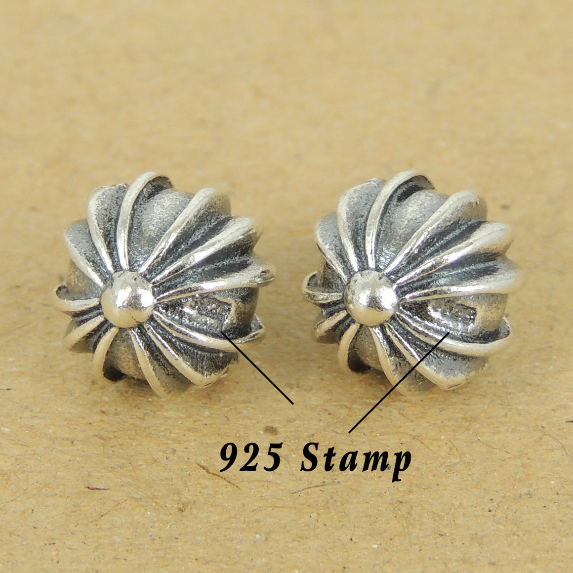 2PCS Celtic Cross Beads - S925 Sterling Silver - Wholesale by Gem & Silver WSP429X2