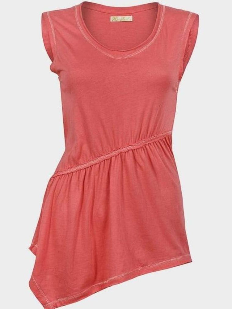 BRAVE SOUL LADIES SLEEVELESS TOP CORAL