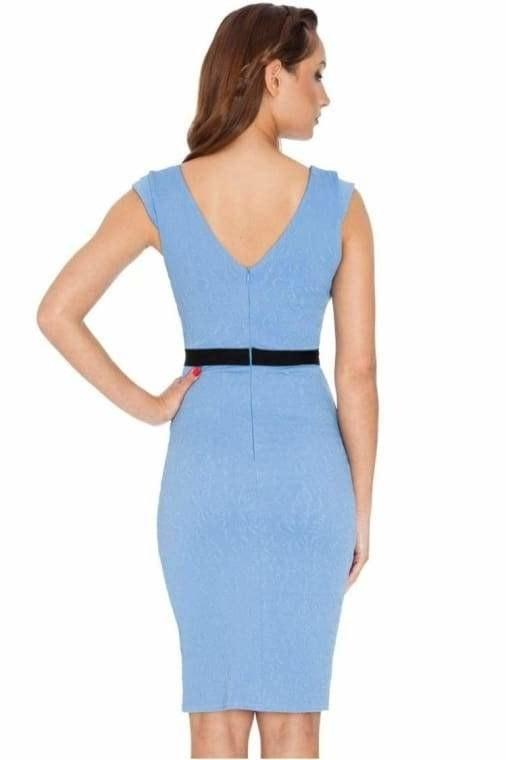 ADRIANNA CREPE V NECK DRESS - Fashion Trendz