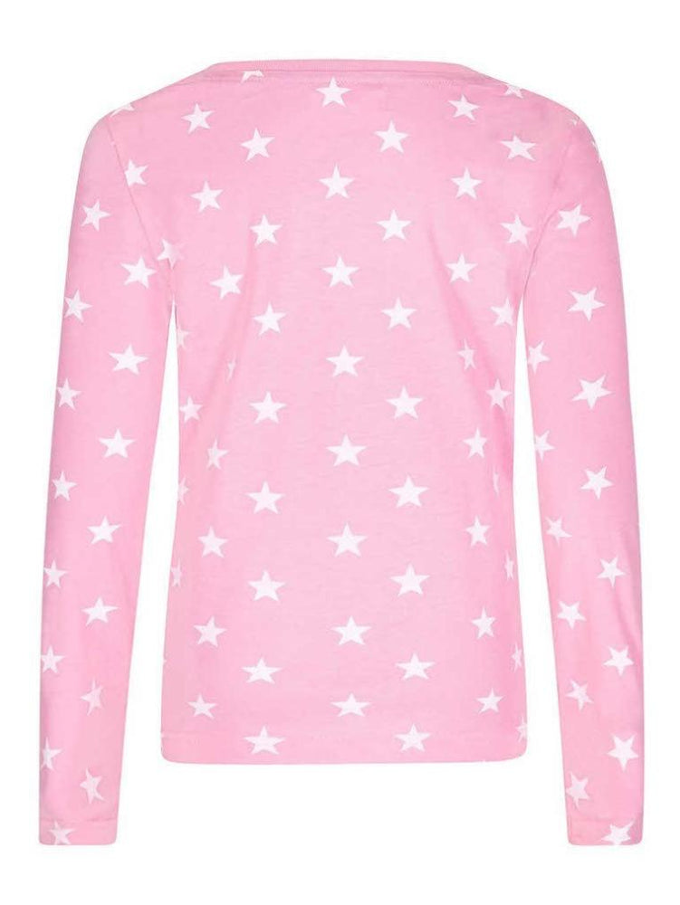 SUGAR SQUAD LONG SLEEVE TOP PINK - Fashion Trendz
