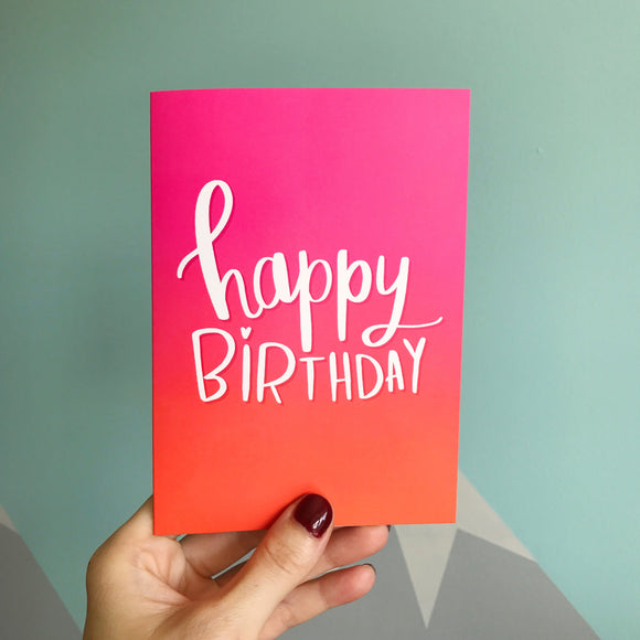 Ombré Birthday Card