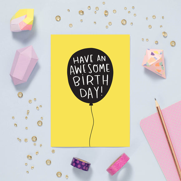 Awesome Birthday Balloon Card