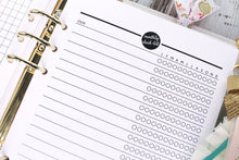Monthly Checklist Printable Planner Insert Insert A5 A4 Half Letter