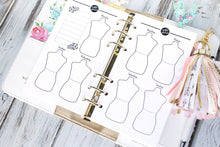 Outfit Planner printable Insert personal size wardrobe planning