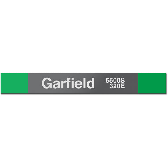 Garfield (Green) Station Sign