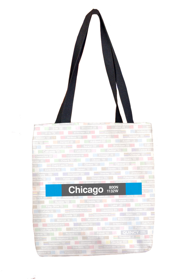 Chicago (Blue) Tote Bag