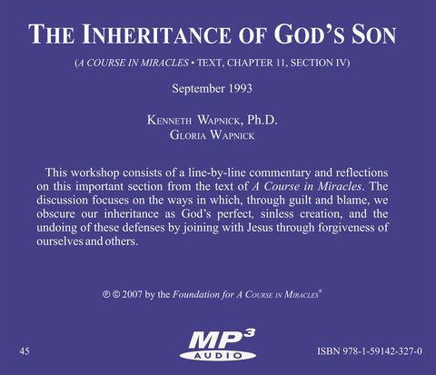 The Inheritance of God's Son [MP3]