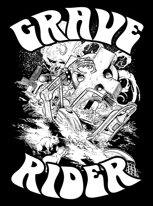 Gnarly Magazine - Grave Rider chopper motorcycle sticker