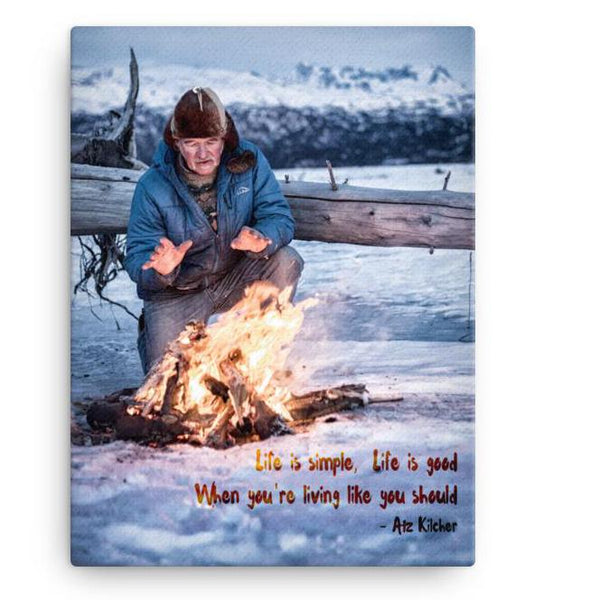 'Life is Simple, Life is Good' Canvas Print
