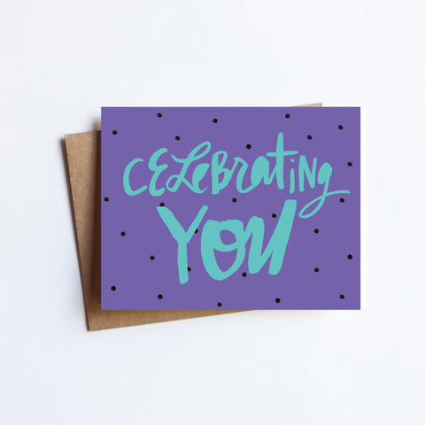 Celebrating You - NOTECARD