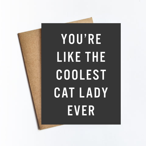Coolest Cat Lady - NOTECARD