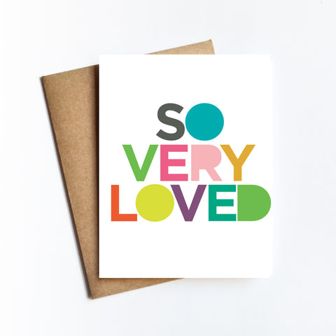So Very Loved - NOTECARD