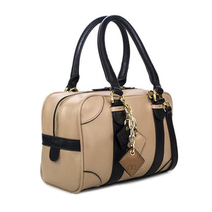 ClaudiaG Carlotta Handbag- Tan / Midnight Black