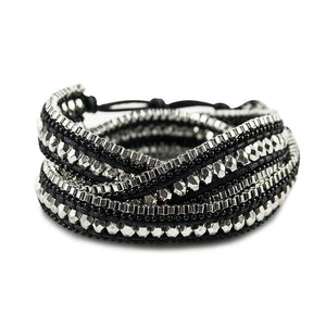 ClaudiaG Double Looped Bracelet- Midnight Black