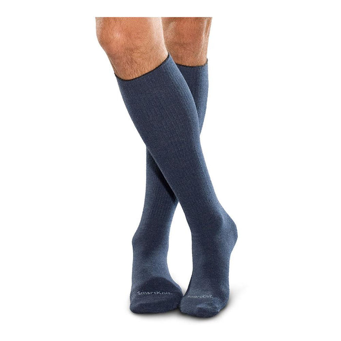 SmartKnit Seamless Diabetic Over-the-Calf Socks - Navy, LG