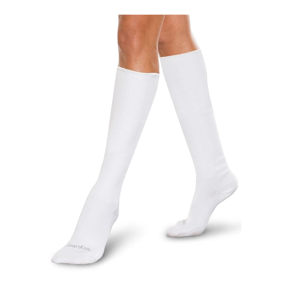 SmartKnit Seamless Diabetic Over-the-Calf Socks - White, XL
