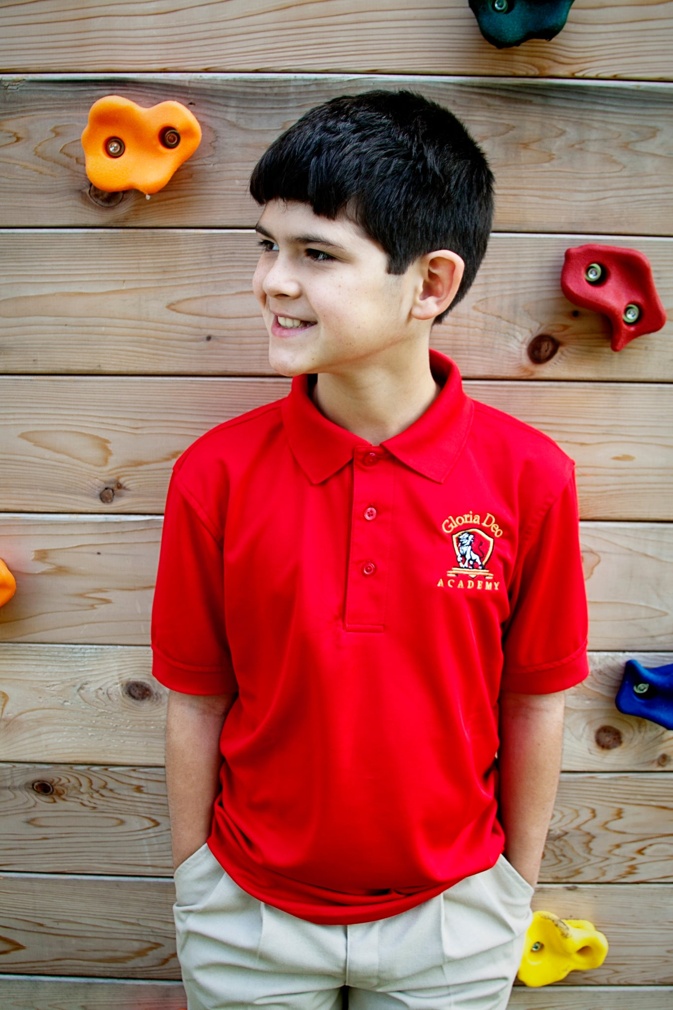BOYS/MENS Athletic Polo (Red or Grey)