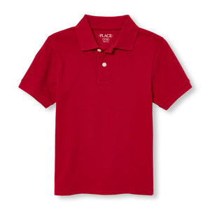 Boys The Children's Place solid pique polo w/GDA logo - Red