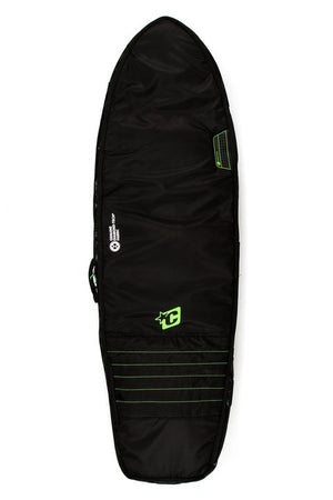 Creatures Double Fish Boardbag-Black/Lime