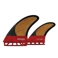 Futures Rob Machado Blackstix 3.0 Twin Fin Set-Red/Bamboo