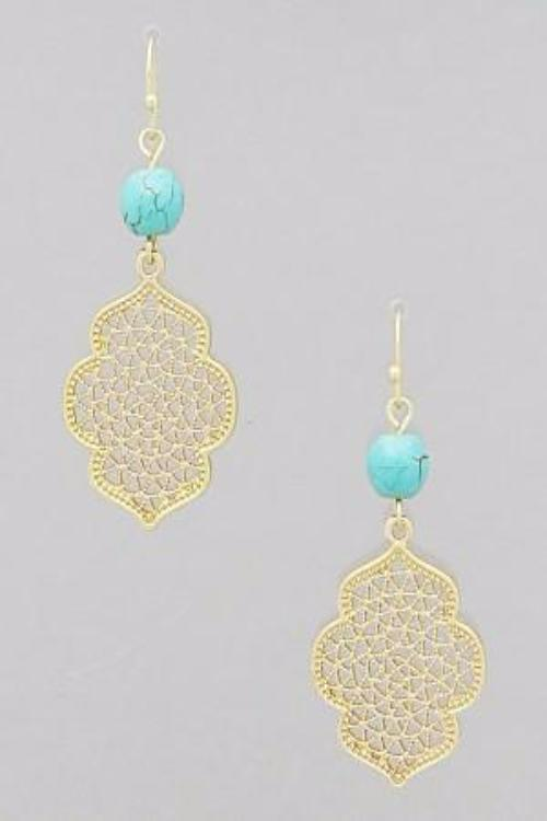Filigree Turquoise Earrings