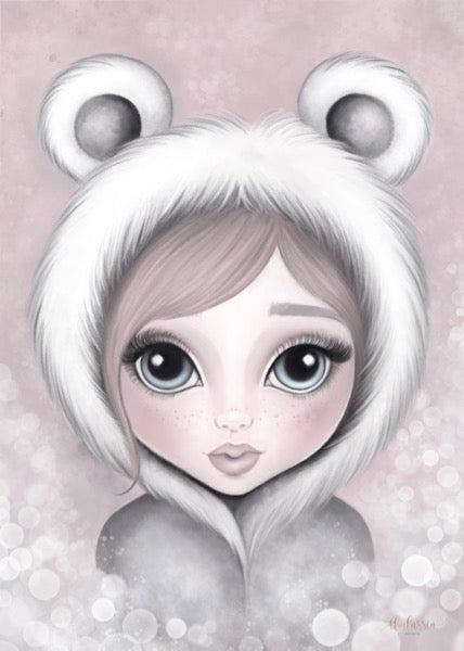 Isla Dream Prints Alaska The Eskimo Girl Print in Pink