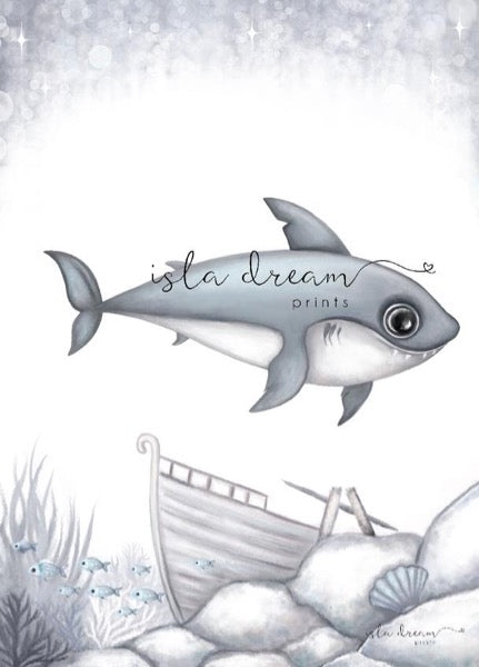Isla Dream Prints Brutus The Shark Print