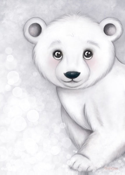 Isla Dream Prints Foster The Polar Bear Print