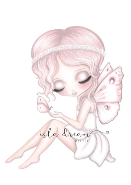 Isla Dream Prints Grace The Butterfly Fairy Print