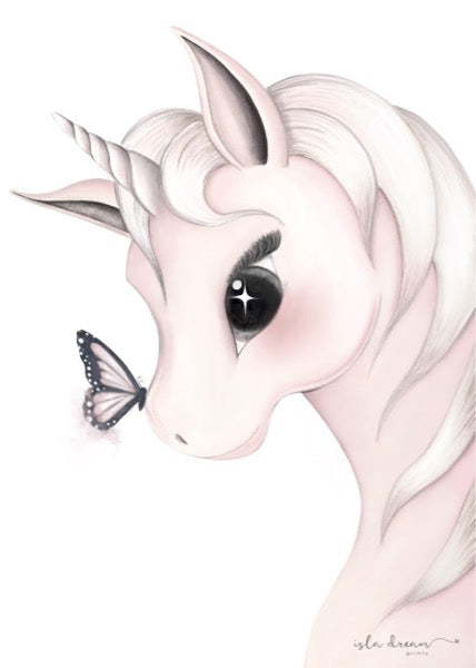 Isla Dream Prints Mila Unicorn Print - Left Facing