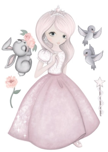 Isla Dream Prints Moonlight The Princess Wall Decals - Oliver Thomas Children's Boutique