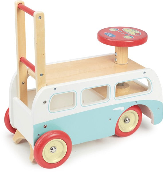Vilac Retro Wooden Toy Combi Pusher & Ride On - Oliver Thomas Children's Boutique