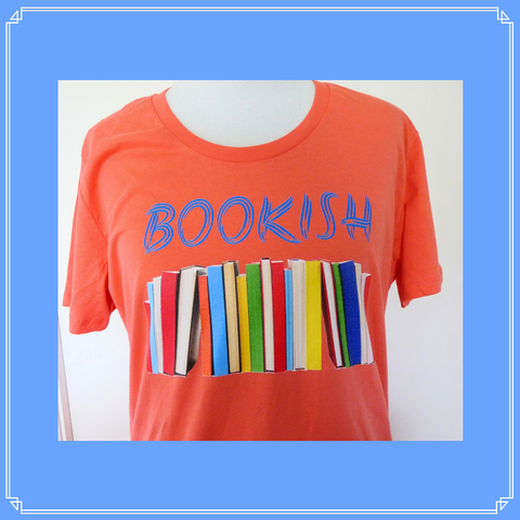 Bookish tee - Watermelon, size L ready to ship