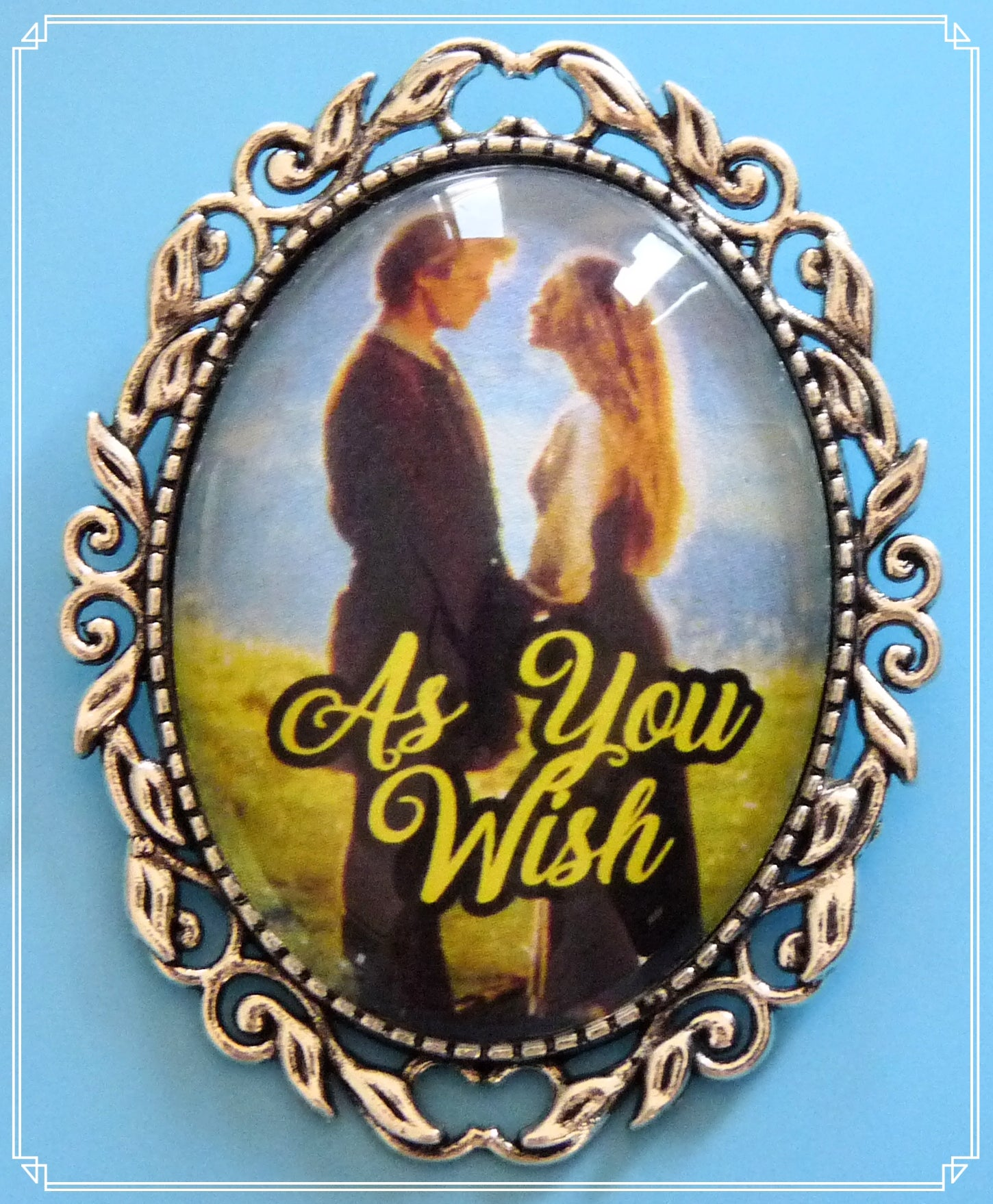 As You Wish brooch