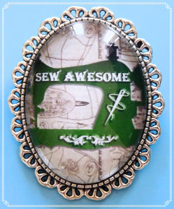 Sew Awesome brooch is part of my Colour Your World collection.