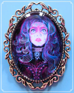 The Violet's Lament brooch is part of my Steampunk collection.