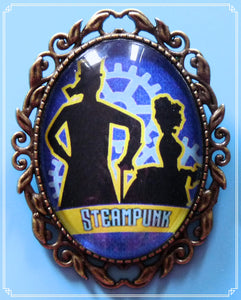 The Steampunk Life brooch is part of my Steampunk collection.
