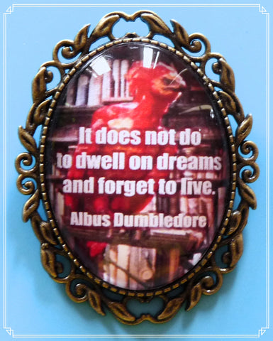 The Don't Forget to Live brooch is part of my fantasy collection and one of my Harry Potter inspired designs.