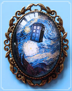 Police Box Starry Night brooch is part of my Sci-Fi collection.