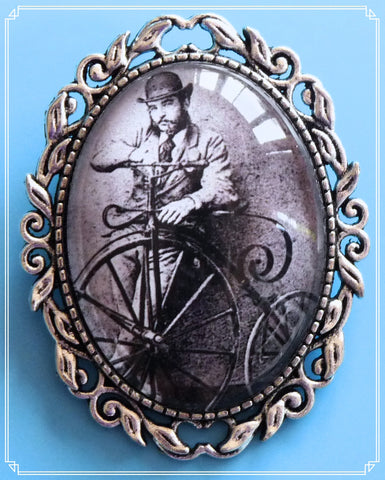 The Pennyfarthing brooch is part of my Steampunk collection.
