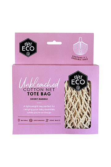 Ever Eco Organic Cotton Net Tote Bag With Short Handle