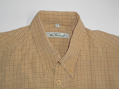 Ben Sherman JJ yellow checks short sleeves shirt, large mens, size 3 - S2839