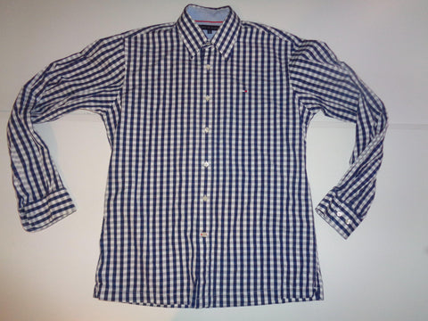 Tommy Hilfiger blue checks shirt - medium mens - S5488