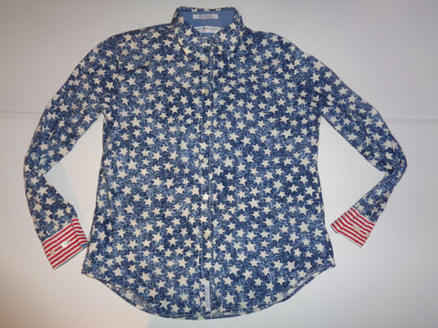 Tommy Hilfiger stars & stripes USA shirt - medium mens - S5489