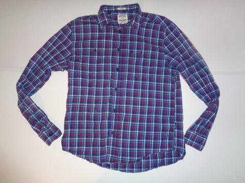 Wrangler blue & red tartan checks shirt - medium mens, regular - S5497