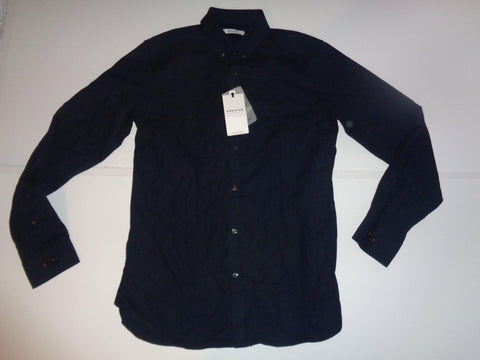 Jack & Jones Premuim navy blue slim fit shirt - medium mens NEW- S5504