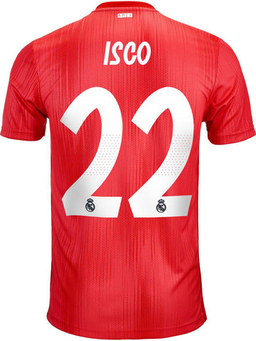 mens Real Madrid 2018-19 third football shirt #ISCO 22