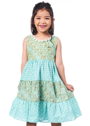 Batik Pom Pom Dress - Tiana