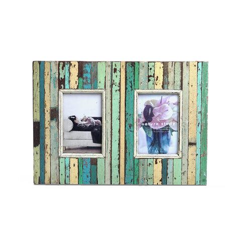 Two windows Rustic Spring Recycle Frame